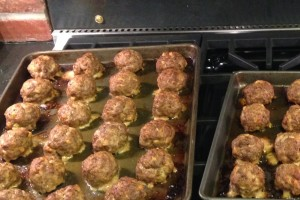 Meatballs just cooked