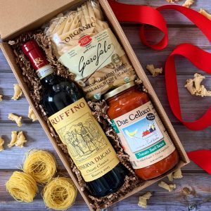 Wine Gift Box Open